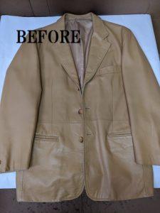 羊革 ジャケット スレリペア