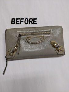 BALENCIAGA(バレンシアガ)財布の染め直し