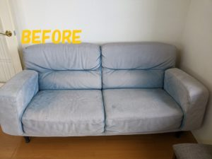 三人掛け スエード(起毛素材)ソファーのカラーチェンジ2