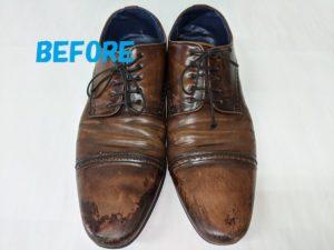 REGALリーガル 革靴の染め直し2