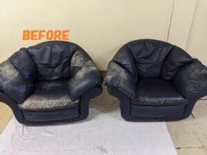 ソファー修理 染め直し イタリア製ソファーの染め直し2