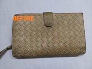革財布修理 革財布染め直し ボッテガヴェネタ財布のカラーチェンジ